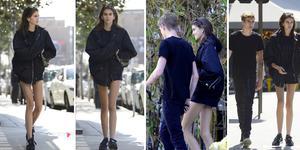 模特兄妹Kaia Gerber和哥哥出街 满屏都是腿