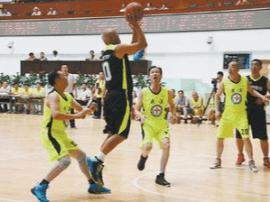 全国城市中老年篮球赛 宜昌老战友队勇夺第五