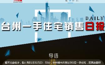 2018年1月31日台州市一手住宅成交561套
