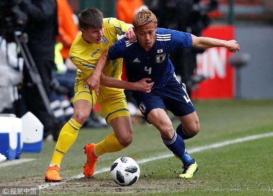 热身赛-柴崎岳助攻本田重返首发 日本1-2乌克兰