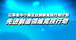 2017年山东省中小微企业创新竞技行动计划 先进制造领域竞技