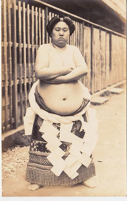 明治末期女子相扑选手