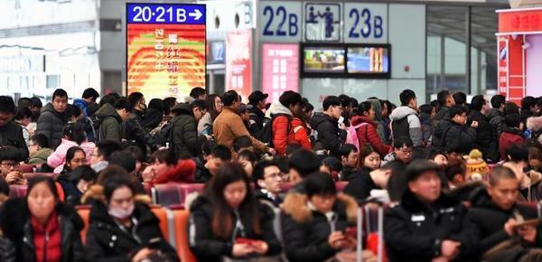 春节假期收尾 火车站迎来返程高峰