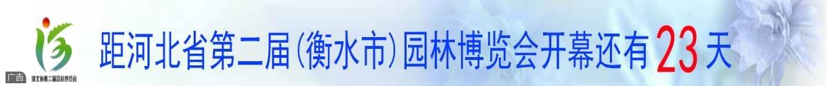 距离河北省第二届(衡水市)园林博览会开幕