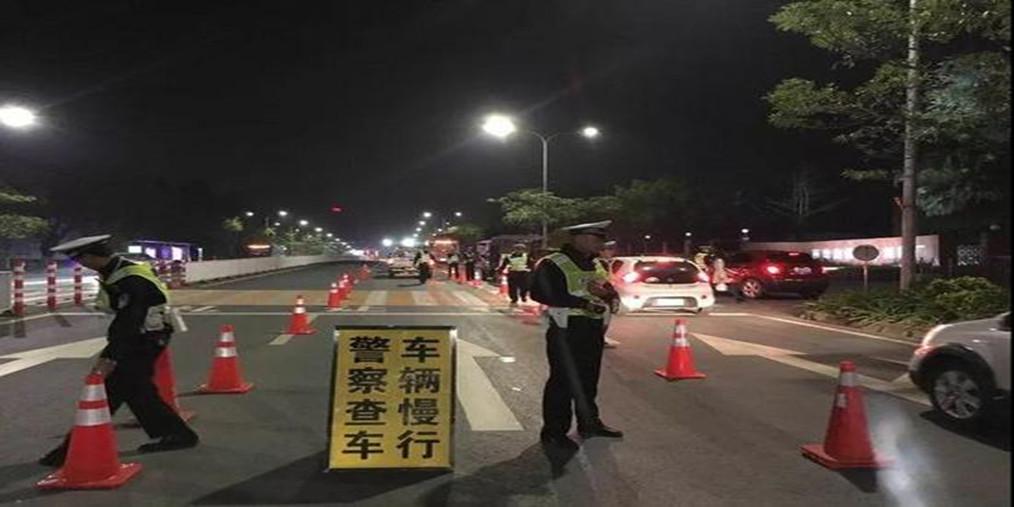 武江交警开展夜查酒驾行动 刑拘一名醉驾人员