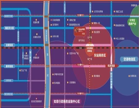 富恒东mall中心区位图