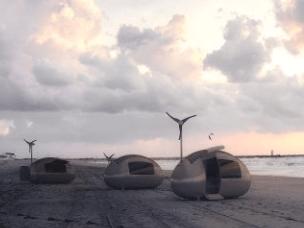生态胶囊:未来感十足的环保露营小屋