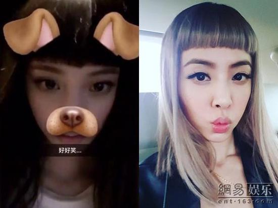 欧阳娜娜留齐刘海超萌 近照竟撞脸蔡依林图片