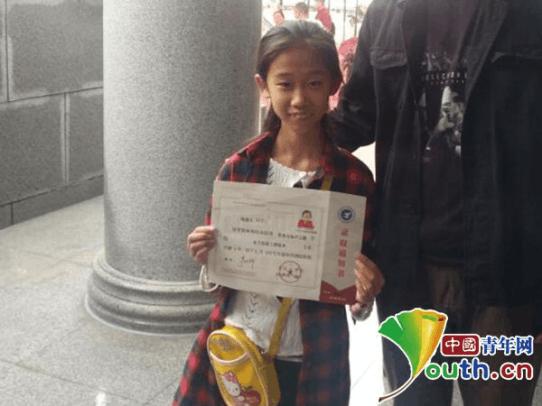 河南商丘10岁女孩大学报到:复读一年考上大专 未参加