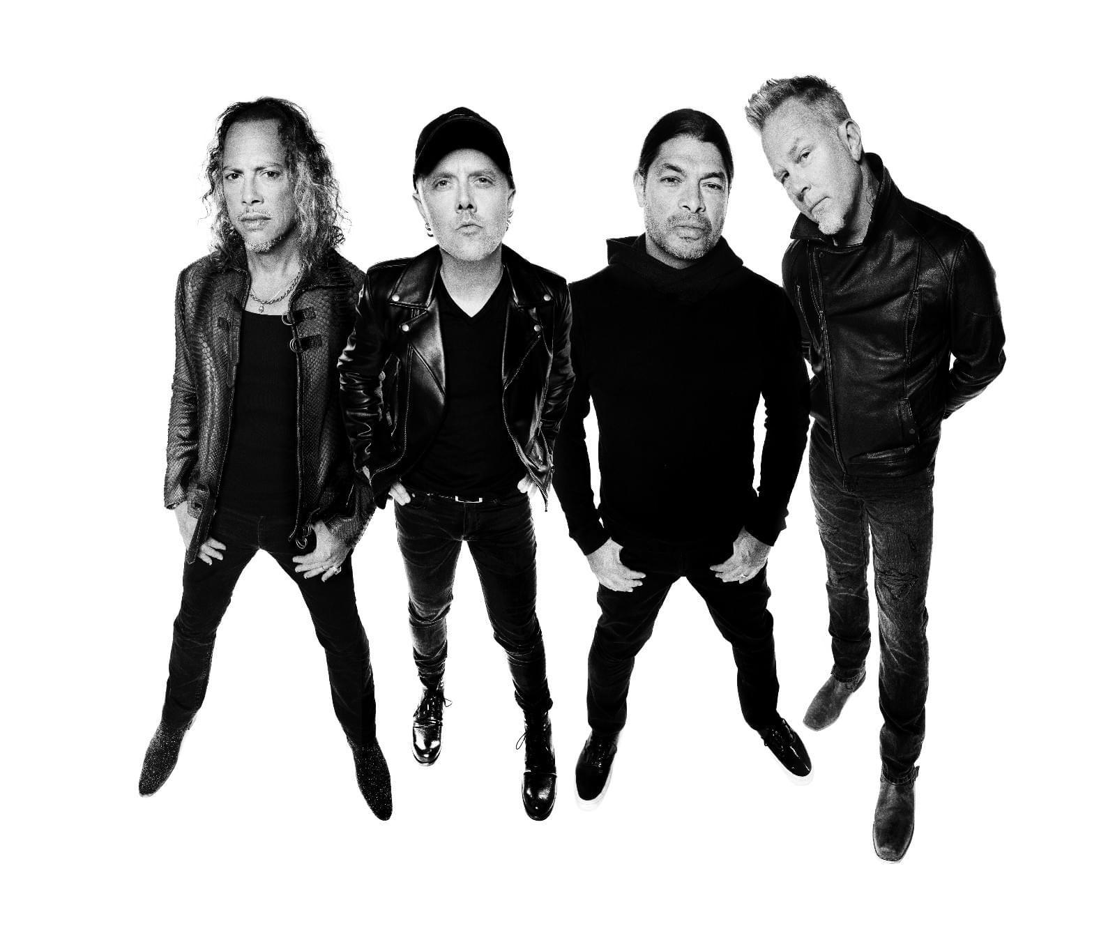 传奇乐队Metallica写真。