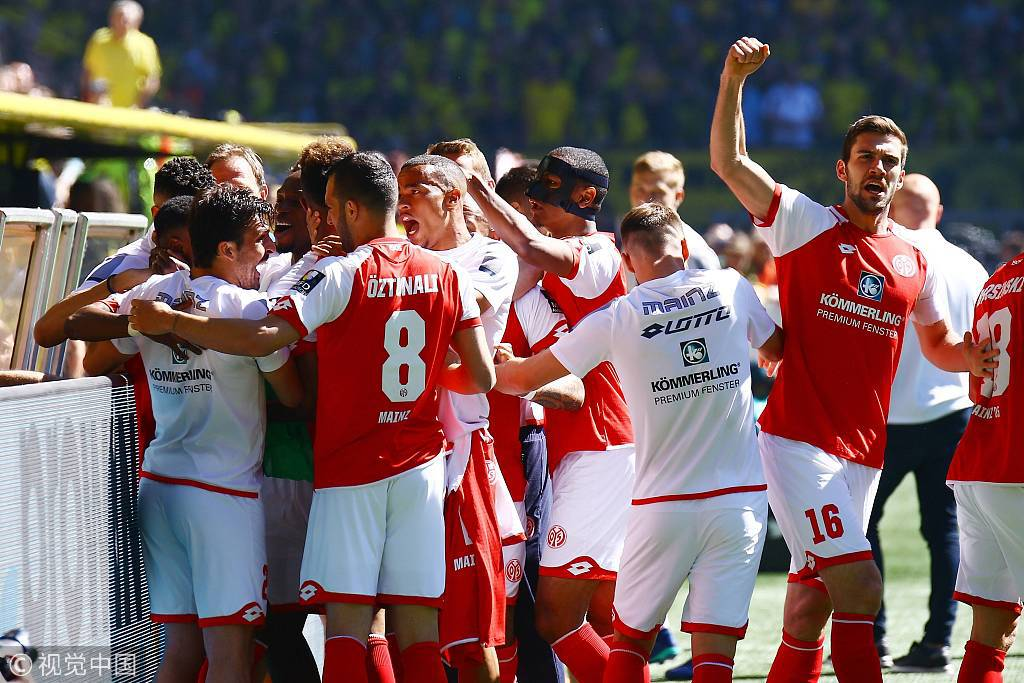 德甲-菲利普进球多特主场1-2负 美因茨成功保级