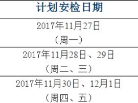 11月27日-12月1日长春天然气周安检计划通知