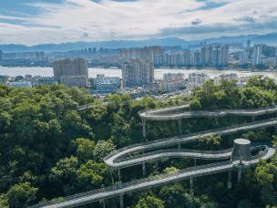 """福州""""福道"""":空中绿道 城市幽境"""