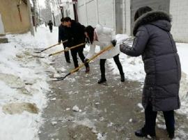 卢氏县各单位清雪障 保畅通活动掀热潮
