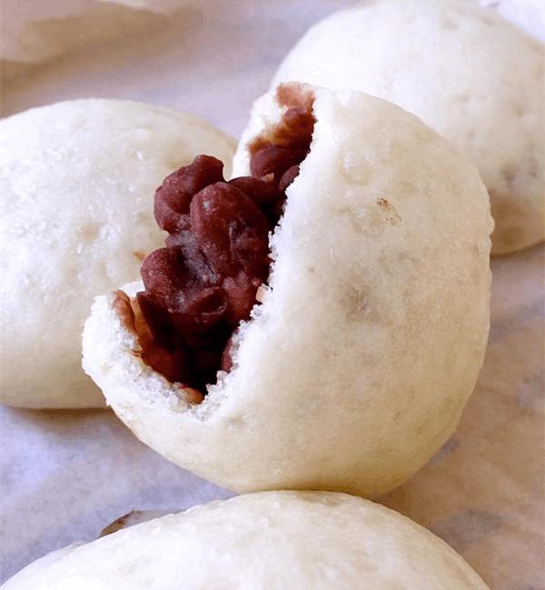 全手工制作红豆包 对人身体健康非常有好处的红豆