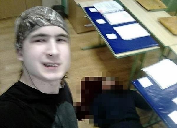 俄罗斯一学生谋杀老师 与尸体自拍后自杀身亡
