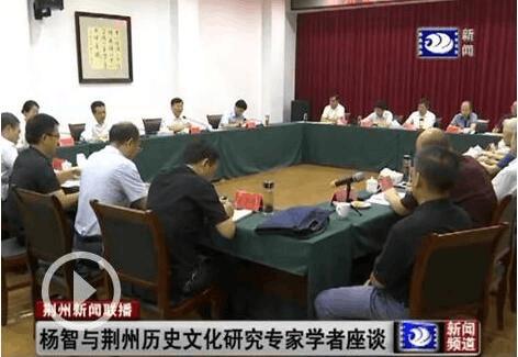 杨智与荆州历史文化研究专家学者座谈