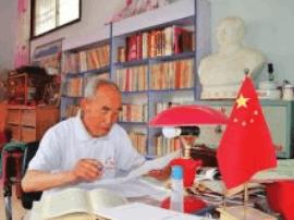 永济八旬老党员孙天德几十年开展宣传工作受称赞