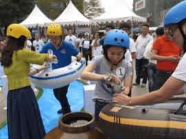 彭水阿依河景区一年一度的国际漂流开漂啦