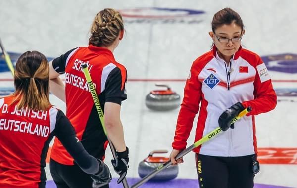 女子冰壶世锦赛中国7-10德国