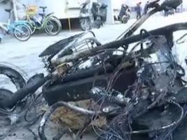 运城一小区电动车起火 导致27人被困