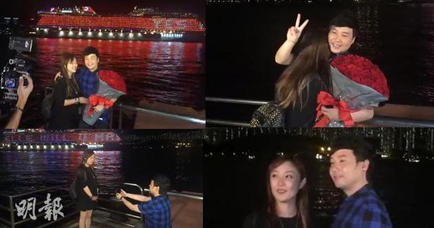 歌手叶文辉出动邮轮示爱女友 突击直播求婚成功