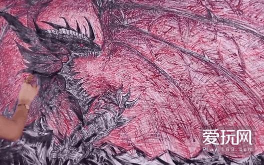 原创漫画家口红作画《魔兽世界》死亡之翼再临