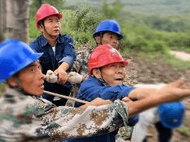 渑池县龙翔电力有限公司领导深入施工现场