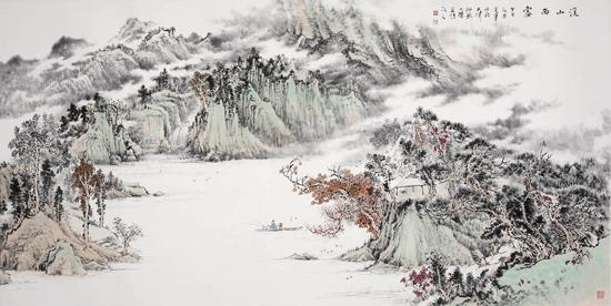 姜金军中国山水画近作欣赏