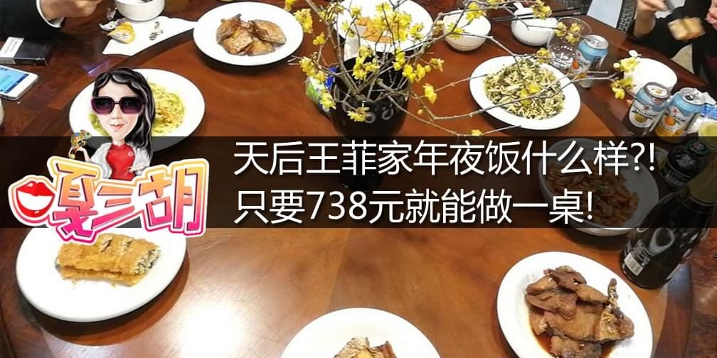王菲家年夜饭什么样?!738元就能做一桌!