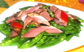 美食家推荐:腊味炒荷兰豆