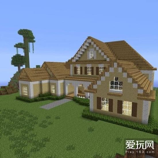我的世界玩家建造房子选择一处好的地方