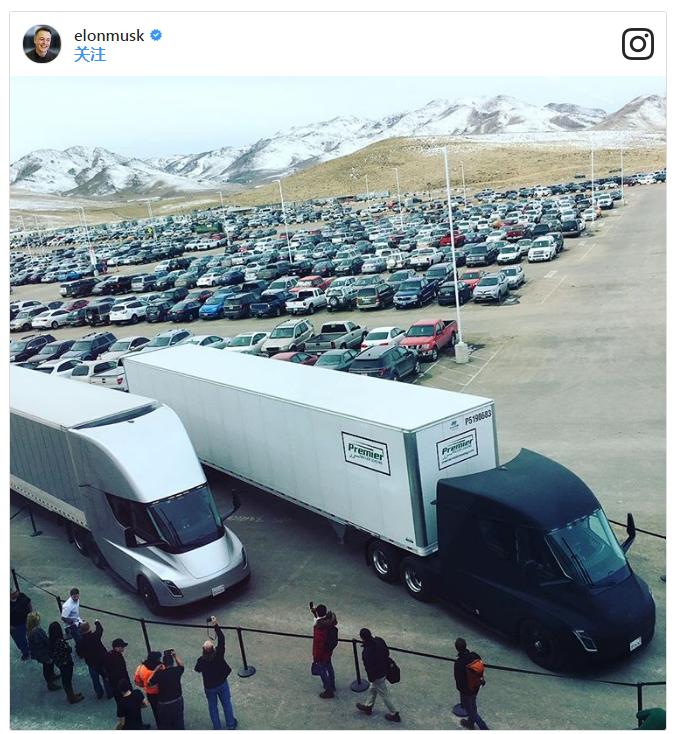 电池组搬运工 特斯拉电动卡车Semi开启首次运输
