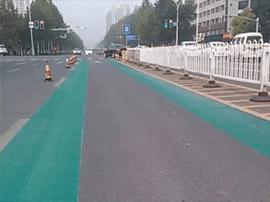 张店世纪路为啥涂成了绿色?华光路也有变化……