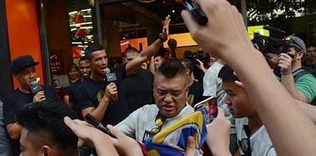 上海为C罗疯狂!活动现场失控 原定环节取消