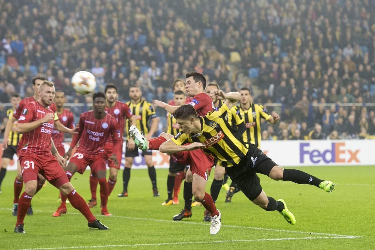 张玉宁前东家维特斯在欧联杯中同样小组垫底,几乎无望出线。