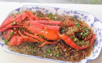 轻松做宴客菜蒜蓉粉丝蒸龙虾 ,吃虾的季节又来啦!