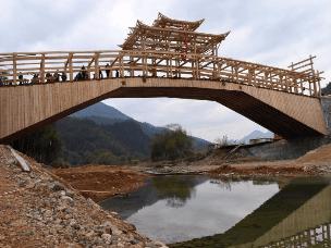 福建政和建中国单孔跨度最大的木拱廊桥