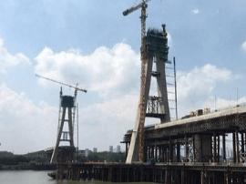 昌赣客专赣州赣江特大桥主塔将于10月封顶