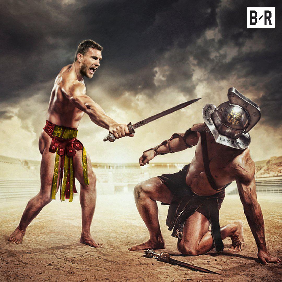 欧冠再现史诗逆转!罗马角斗士KO巴萨 这剧本你想得到吗?