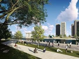 东营投资1.8亿打造广利河(西城段)景观带