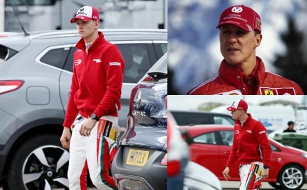 舒马赫爱子米克亮相F3 红衣装扮酷似车王