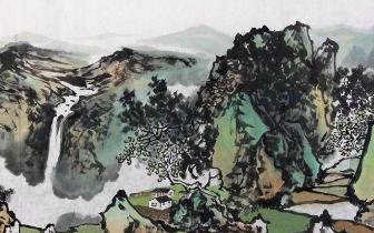 今日丹青美术馆馆长梁吉章山水画立意高远