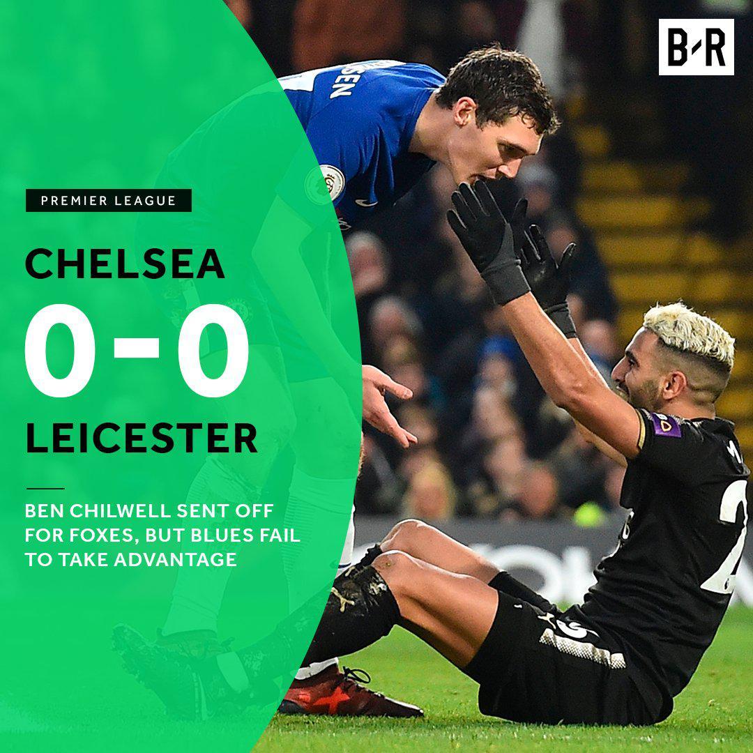 英超-小法阿扎尔半场被换下 切尔西0-0十人莱斯特