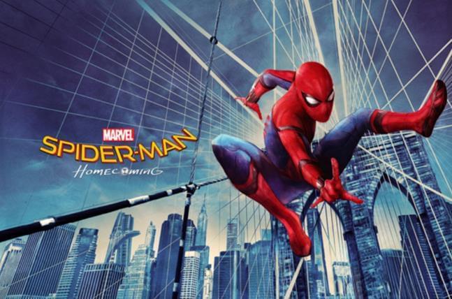 《蜘蛛侠:英雄归来》饭制版艺术海报吸睛