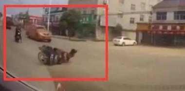 """女子在数米外摔倒 司机被定""""无接触型担责"""""""