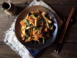 """超级下饭的""""川香花椰菜""""麻辣香就是特色"""