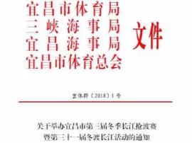 三九寒冬抢渡长江 2018宜昌群众体育第一赛倒计时