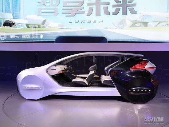 仪表盘没有了 纳智捷AI智能概念座舱发布
