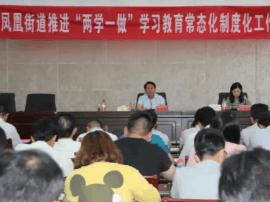 """凤凰街道召开推进""""两学一做"""" 学习教育"""